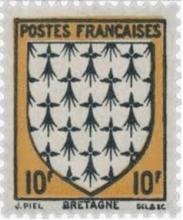 Timbre émis par le Ministère des Postes de France