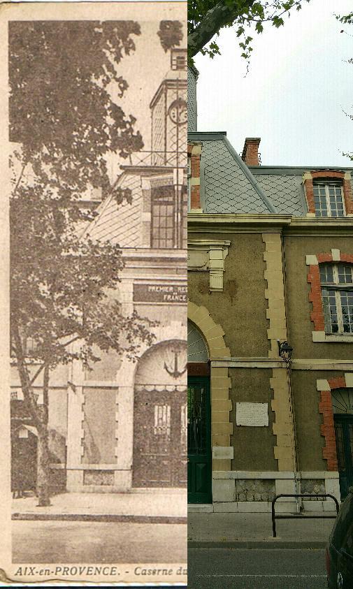 Aix-en-Provence - Caserne du R.I.C.M. entrée principale - 1er régiment de France